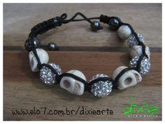 Shambala Caveira Branca    www.elo7.com.br/dixiearte
