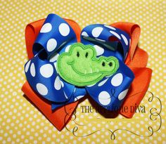 Alligator Hair Bow Center Embroidery Design by theappliquediva, $2.99