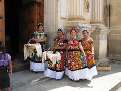 Traditional wedding, Oaxaca--this would be so fun for Georgie