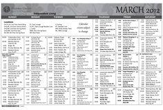 Arizona Grand Monthly Calendar