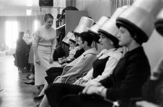 "Women getting ""Elvis"" hairstyles in Grand Rapids, Michigan, 1957. Photographed by Grey Villet"