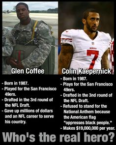 This one's a no brainer. Thank you, Glen Coffee, for your service and for being…