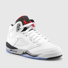 JORDAN AIR JORDAN 5 RETRO (WHITE | BLACK | UNIVERSITY RED) from kicksusa.