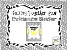Putting Together Your Evidence Binder