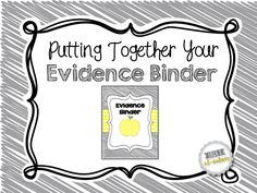 Erica's Ed-Ventures: Putting Together Your Evidence Binder