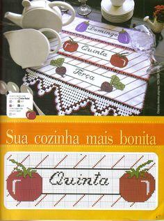 Semaninha em Ponto Cruz e Crochê - =(^.^)=Rô Tricô e Crochê Mania=(^.^)=