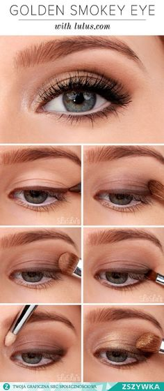Beautiful golden smokey eye. Will be a great look for the holidays, subtle yet very nice