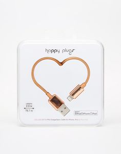 Happy Plugs Rose Gold Lightning Charge & Sync 2 Metre Cable