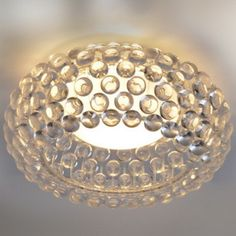 Crystal flush mount light for entry hall