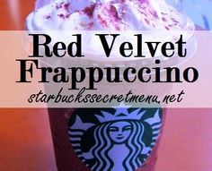 Ahhh im in heaven right now!!!  Starbucks Secret Menu: Red Tuxedo Frappuccino | Starbucks Secret Menu