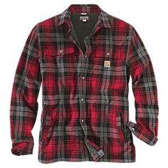 Carhartt Hubbard Sherpa-Lined Shirt Jacket for Men   Bass Pro Shops: The Best Hunting, Fishing, Camping & Outdoor Gear