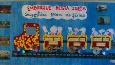 Mural : Sugestões para as Férias  unidade Laranjeiras