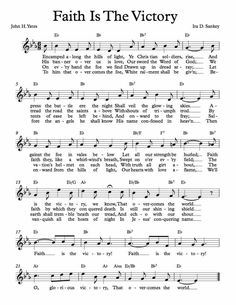 Free Sheet Music for Faith Is The Victory. Hymns Of Praise, Praise Songs, Songs To Sing, Music Songs, Best Classical Music, Bible Songs, Lead Sheet, School Songs, Spiritual Songs