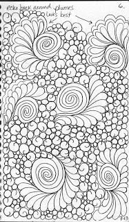 Here are a few background fillers     from my Quilting Sketch Book:           Clam Shells Blooming              Bubble Swirl          ...