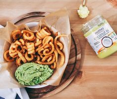 Curly Fries & Guacamole