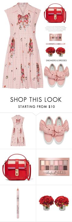 """""""Pink"""" by yexyka ❤ liked on Polyvore featuring Miu Miu, Joshua's, Gianfranco Lotti, Maybelline and The French Bee"""