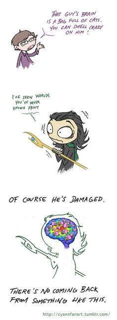 Loki is a bag of cats! Too cute :D There's no coming back by CyannFanArt.deviantart.com on @deviantART