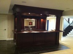 Traditional Basement Photos Bar Design, Pictures, Remodel, Decor and Ideas - page 89