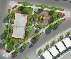plano de parque en 3d