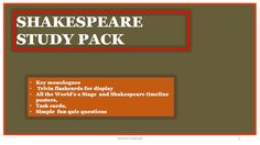 Shakespeare Fun Study Multi Pack (Bundle)...