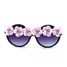 Pink Floral Sunnies (46 CAD) ❤ liked on Polyvore featuring accessories, eyewear, sunglasses, rose glasses, floral print sunglasses, pink sunglasses, pink glasses and rose sunglasses