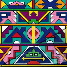 Pattern Afrika-Ndebele-Muster Indian Patterns, Tribal Patterns, Print Patterns, Coat Patterns, African Masks, African Art, Africa Symbol, African Crafts, African Tribes