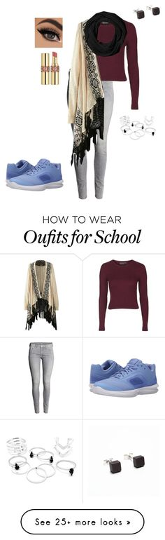 """""""birthday outfit for school tomorrow! im turning 15"""" by vireheart on Polyvore featuring Topshop, WithChic, Filip Vanas, NIKE, Coach, Yves Saint Laurent, women's clothing, women's fashion, women and female"""