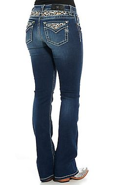 Miss Me Women's Dark Wash Tribal Embroidery Boot Cut Jeans Cowgirl Tuff Jeans, Cowgirl Clothing, Cowgirl Outfits, Biker Clothing, Gypsy Cowgirl, Cowgirl Fashion, Kevlar Jeans, Jeans Style, Cut Jeans