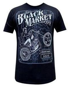 Two Wheel Terror Shirt Cotton Shirt - Black Made in the USA - By: Black Market Art Company - Artist: Adi Tomboy Fashion, Mens Fashion, Steady Clothing, Saints Shirts, Mens Attire, Mens Tees, Shirt Designs, My Style, T Shirt