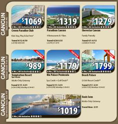 Cancun Vacation Specials with Air from Atlanta