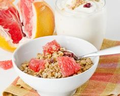 Muesli, Granola, Panna Cotta, Breakfast Recipes, Healthy Recipes, Healthy Food, Pudding, Fruit, Cooking