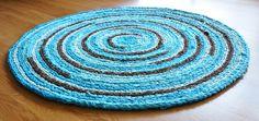 "Crochet recycled fabric ""rag rug."" #Craft"