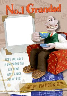 Wallace & Gromit - No 1 Grandad Father's Day Personalised Greetings Card Idea