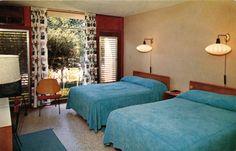 Vintage Postcards of Inspiring Motel Room Interiors, Valley Forge Motel-St. Petersburg, Florida  Photo Credit:  Roadsidepictures