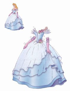 Disney's Sleeping Beauty paper doll (Russian) of Paper Doll Costume, Paper Doll Craft, Doll Crafts, Paper Toys, Paper Crafts, Paper Dolls Clothing, Doll Clothes, Pach Aplique, Imprimibles Toy Story Gratis