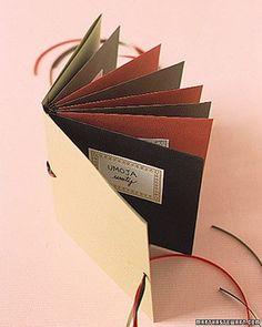 Envelope Books: Cloth Binding How-To - Martha Stewart Scrapbooking & Memorykeeping Glue Crafts, Book Crafts, Paper Crafts, Dyi Crafts, Paper Art, Envelope Book, Diy Envelope, Envelope System, Mini Albums