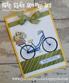 Julie Kettlewell - Stampin Up UK Independent Demonstrator - Order products 24/7: Bike Ride Stamp Set