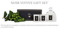 Noir Votive Gift Set - Figue, Fleur Blanche and Orangerie