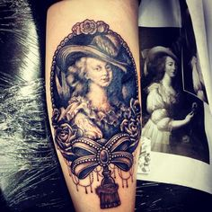 Marie Antoinette Tattoo. :))) Riot Ink Powell Ohio