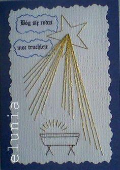 Christmas Card Crafts, Christmas Paper, Xmas Cards, Diy Cards, Iris Folding Templates, Embroidery Cards, String Crafts, Sewing Cards, String Art Patterns