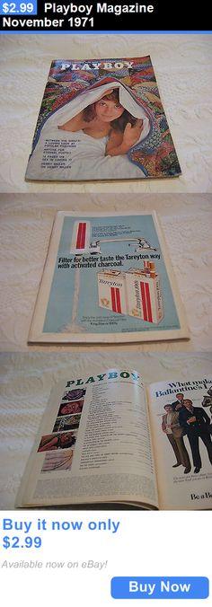Magazines: Playboy Magazine November 1971 BUY IT NOW ONLY: $2.99