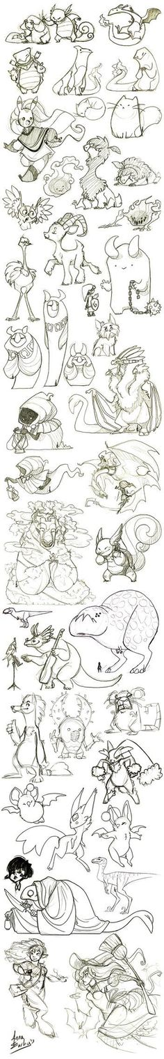 Great Big Sketchdump WInter '13 by Turtle-Arts on deviantART: