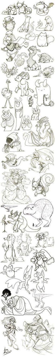 Great Big Sketchdump WInter '13 by Turtle-Arts on deviantART: