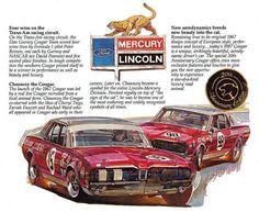 1967 Mercury Cougar Trans - Am Race Car win ad. Road Race Car, Race Cars, Road Racing, Us Cars, Sport Cars, Motor Sport, Vintage Racing, Vintage Cars, Vintage Auto