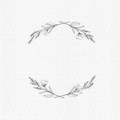 Wild flower wreath clipart   Etsy
