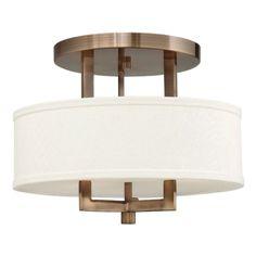 Hampton Semi Flush Ceiling Light | Hinkley Lighting at Lightology