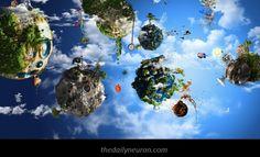 A Fantasy World wallpaper World Wallpaper, Planets Wallpaper, Cloud Wallpaper, Colorful Wallpaper, Wallpaper Backgrounds, Wallpaper Desktop, 3d Fantasy, Fantasy World, Fantasy Landscape