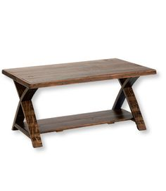 Rustic Wooden Coffee Table: Coffee Tables at L.L.Bean