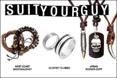 Tough leather and rugged ropes. Sleek titanium and solid steel bands. Simple chains and edgy skulls. Browse our all new men's styles and find the right fit for your favorite guy – then treat yourself to our Style Bonus with an order of $50 or more.