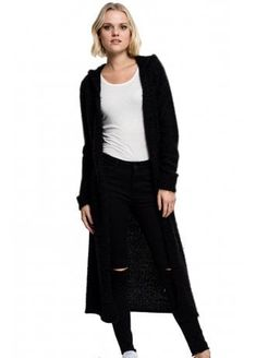 Urban Classics Hooded Feather Cardigan | Attitude Clothing